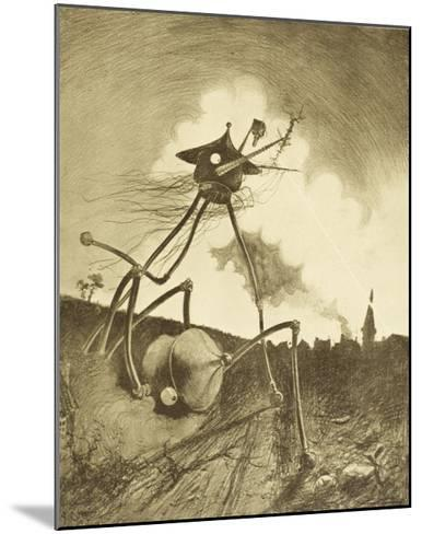 The War of the Worlds, a Martian Fighting-Machine in Action-Henrique Alvim Corr?a-Mounted Giclee Print