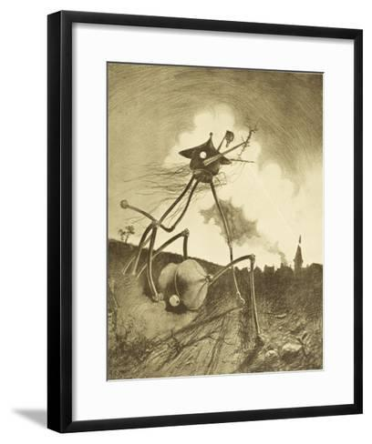The War of the Worlds, a Martian Fighting-Machine in Action-Henrique Alvim Corr?a-Framed Art Print