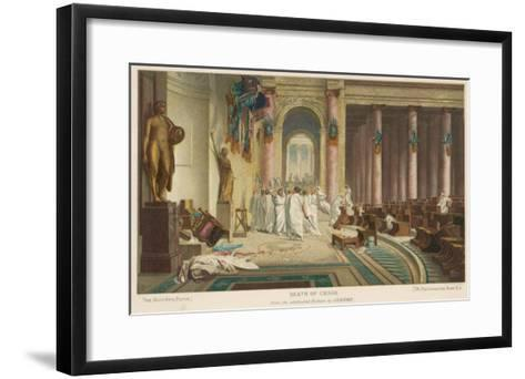Julius Caesar is Assassinated in the Senate by Brutus and His Companions- Gerome-Framed Art Print