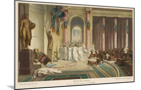 Julius Caesar is Assassinated in the Senate by Brutus and His Companions- Gerome-Mounted Giclee Print