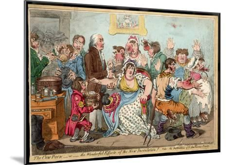 """The """"Cow Pock"""" or the Wonderful Effects of the New Inoculation, Satire on Jenner's Treatment-James Gillray-Mounted Giclee Print"""