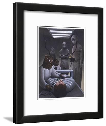 At Aveley Essex John and Susan Day are Abducted with Their Child and Their Car Aboard a UFO-Neil Breeden-Framed Art Print