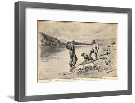 Panning Gold on the Yukon River Klondike Canada-C.e. Fripp-Framed Art Print