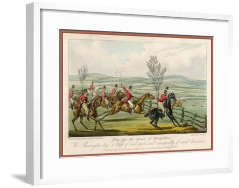 Shavington Day a Trial Between Rival Packs and Horsemen-Edward Duncan-Framed Art Print