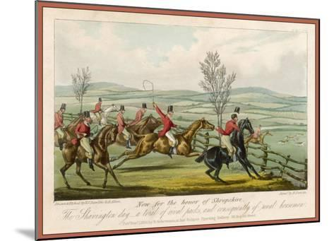 Shavington Day a Trial Between Rival Packs and Horsemen-Edward Duncan-Mounted Giclee Print