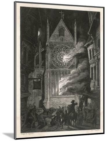 The Destruction of Old Saint Paul's Cathedral-J. Franklin-Mounted Giclee Print