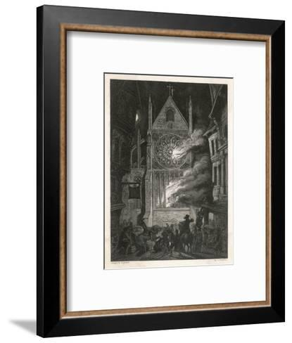 The Destruction of Old Saint Paul's Cathedral-J. Franklin-Framed Art Print