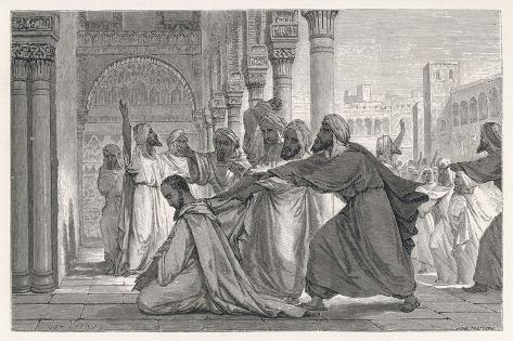 Ibn Rushd, Known in the West as Averroes, Spanish-Islamic Philospher- Figuier-Stretched Canvas Print