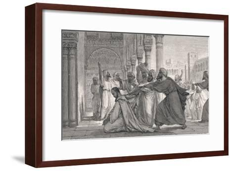Ibn Rushd, Known in the West as Averroes, Spanish-Islamic Philospher- Figuier-Framed Art Print