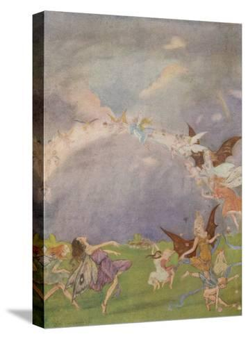 Fairies in Flight-Florence Anderson-Stretched Canvas Print