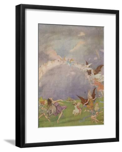 Fairies in Flight-Florence Anderson-Framed Art Print