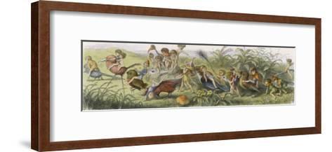 Elves and Their Tricks-Richard Doyle-Framed Art Print