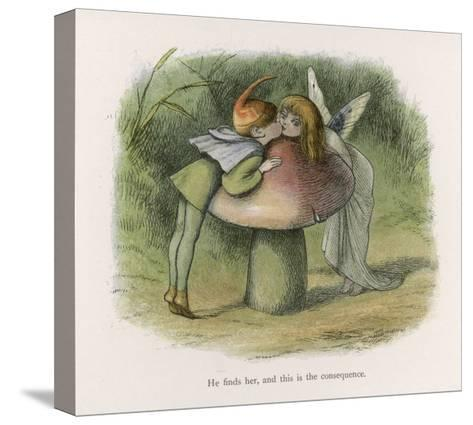 An Elf-Fairy Romance: He Finds Her and This is the Consequence-Richard Doyle-Stretched Canvas Print