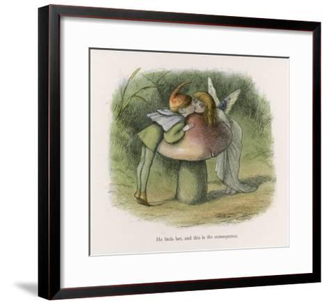 An Elf-Fairy Romance: He Finds Her and This is the Consequence-Richard Doyle-Framed Art Print