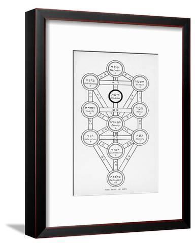 The Tree of Life of the Jewish Caballa-J^f^c^ Fuller-Framed Art Print