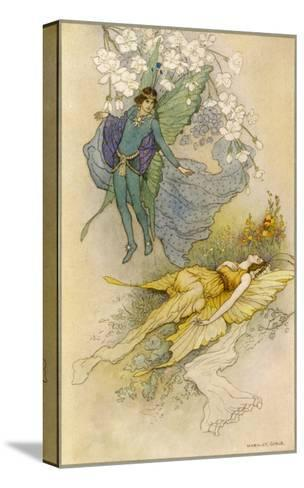 A Midsummer Night's Dream, Act II Scene II: Oberon Places a Spell on Titania-Warwick Goble-Stretched Canvas Print