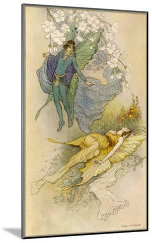 A Midsummer Night's Dream, Act II Scene II: Oberon Places a Spell on Titania-Warwick Goble-Mounted Giclee Print