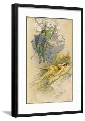 A Midsummer Night's Dream, Act II Scene II: Oberon Places a Spell on Titania-Warwick Goble-Framed Art Print