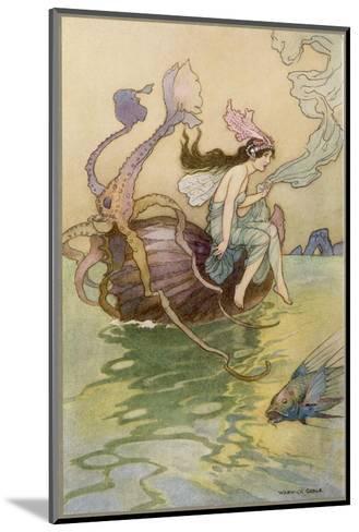 Fairy Riding a Nautilus-Warwick Goble-Mounted Giclee Print