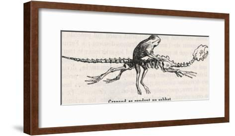 "Toad, a Witches"" ""Familiar"", Rides to the Sabbat Mounted on an Animal Skeleton-Collin De Plancy-Framed Art Print"