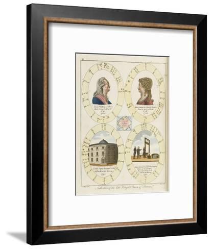 The Nativities of Louis XVI and Marie Antoinette Show Their Tragic Destiny- Dodd-Framed Art Print