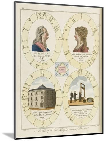 The Nativities of Louis XVI and Marie Antoinette Show Their Tragic Destiny- Dodd-Mounted Giclee Print