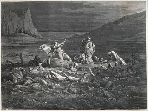 Virgil and Dante Cross the Styx-Dupreyrou-Stretched Canvas Print