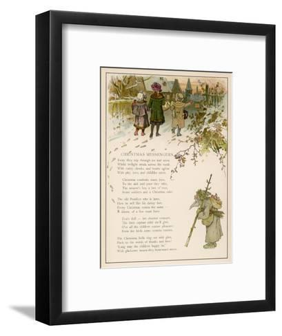 Santa Claus Watches Approvingly as a Group of Children Take Christmas Gifts to the Villagers-Woldemar Friedrich-Framed Art Print