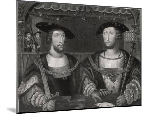 King Henry VIII with the Emperor Carl V as Young Men at the Field of the Cloth of Gold 1520-Robert Brown-Mounted Giclee Print