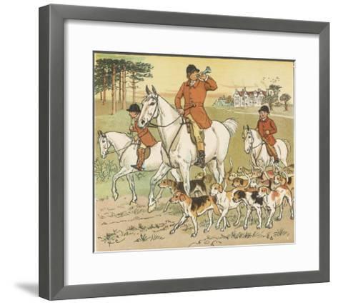 Huntsman Blows His Horn to Start the Hunt-Randolph Caldecott-Framed Art Print