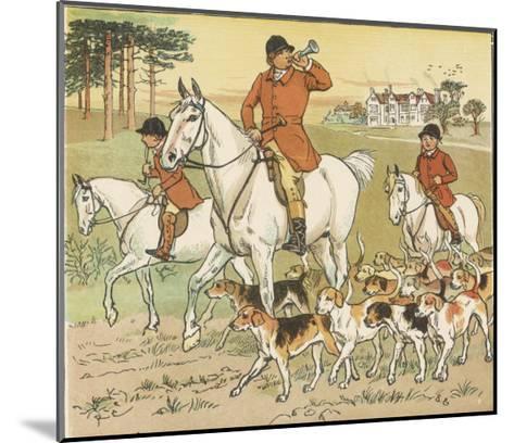 Huntsman Blows His Horn to Start the Hunt-Randolph Caldecott-Mounted Giclee Print