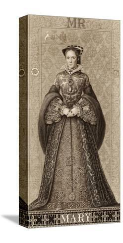Mary Tudor Queen of England Daughter of Henry VIII and Catherine of Aragon-Thomas Brown-Stretched Canvas Print