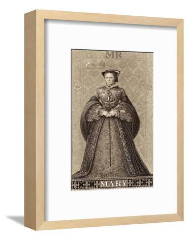 Mary Tudor Queen of England Daughter of Henry VIII and Catherine of Aragon-Thomas Brown-Framed Art Print