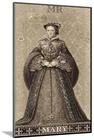 Mary Tudor Queen of England Daughter of Henry VIII and Catherine of Aragon-Thomas Brown-Mounted Giclee Print