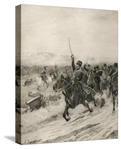 The Charge of the Light Brigade, into the Valley of Death!-Henri Dupray-Stretched Canvas Print