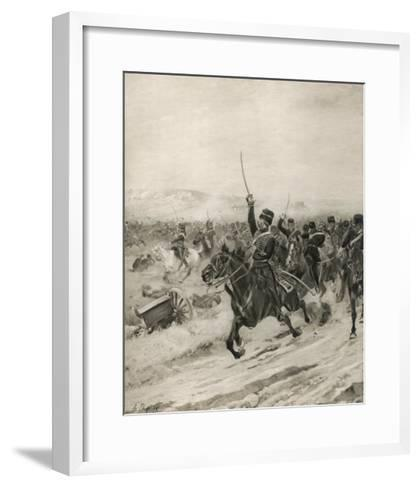 The Charge of the Light Brigade, into the Valley of Death!-Henri Dupray-Framed Art Print