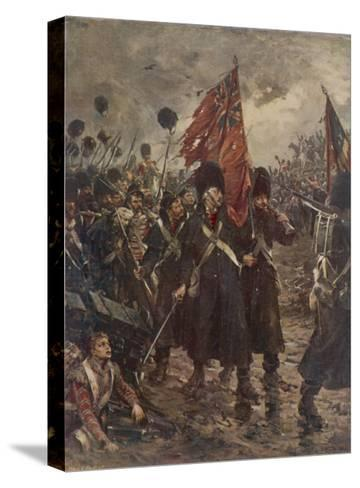 The Guards Saving the Colours-Robert Gibb-Stretched Canvas Print