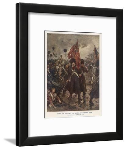 The Guards Saving the Colours-Robert Gibb-Framed Art Print