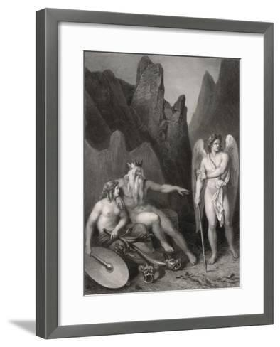Satan at the Court of Chaos-Allais-Framed Art Print
