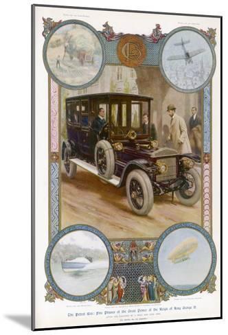 George V Enters the Royal Daimler-Samuel Begg-Mounted Giclee Print