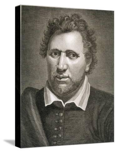 Ben Jonson Writer-Philip Audinet-Stretched Canvas Print