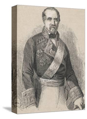 Leopoldo O'Donnell Conde De Lucena Spanish Marshall and Politician of Irish Descent- Cillot-Stretched Canvas Print