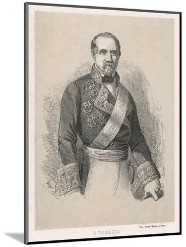 Leopoldo O'Donnell Conde De Lucena Spanish Marshall and Politician of Irish Descent- Cillot-Mounted Giclee Print