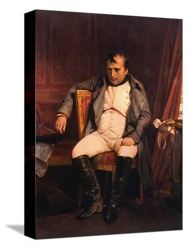 Napoleon Emperor Defeated at Fontainebleau 1814-Paul Hippolyte Delaroche-Stretched Canvas Print