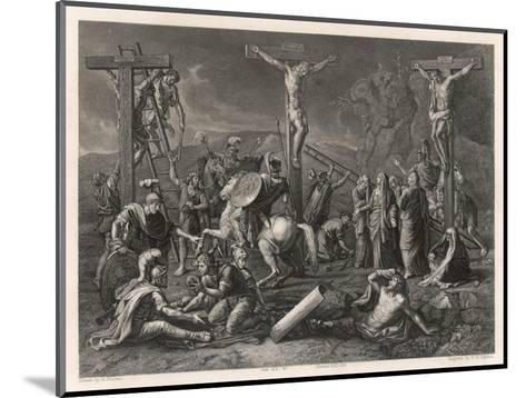 Mary Watches Soldiers Play Dice Jesus and His Companions Slowly Die- Egleton-Mounted Giclee Print