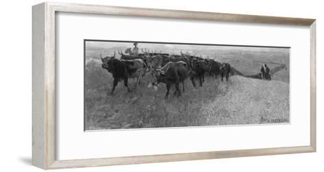 On the Great Abilene Cattle Trail from Texas-G^h^ Del'orme-Framed Art Print