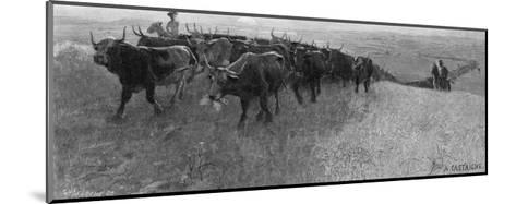 On the Great Abilene Cattle Trail from Texas-G^h^ Del'orme-Mounted Giclee Print