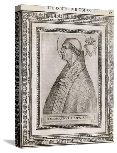 """Pope Leo I """"The Great"""" Pope and Saint Opposed Heretics Menaced by Attila the Hun- Cavallieri-Stretched Canvas Print"""