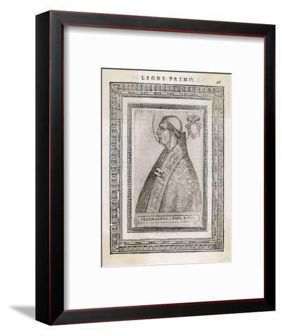 """Pope Leo I """"The Great"""" Pope and Saint Opposed Heretics Menaced by Attila the Hun- Cavallieri-Framed Art Print"""