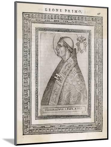 """Pope Leo I """"The Great"""" Pope and Saint Opposed Heretics Menaced by Attila the Hun- Cavallieri-Mounted Giclee Print"""